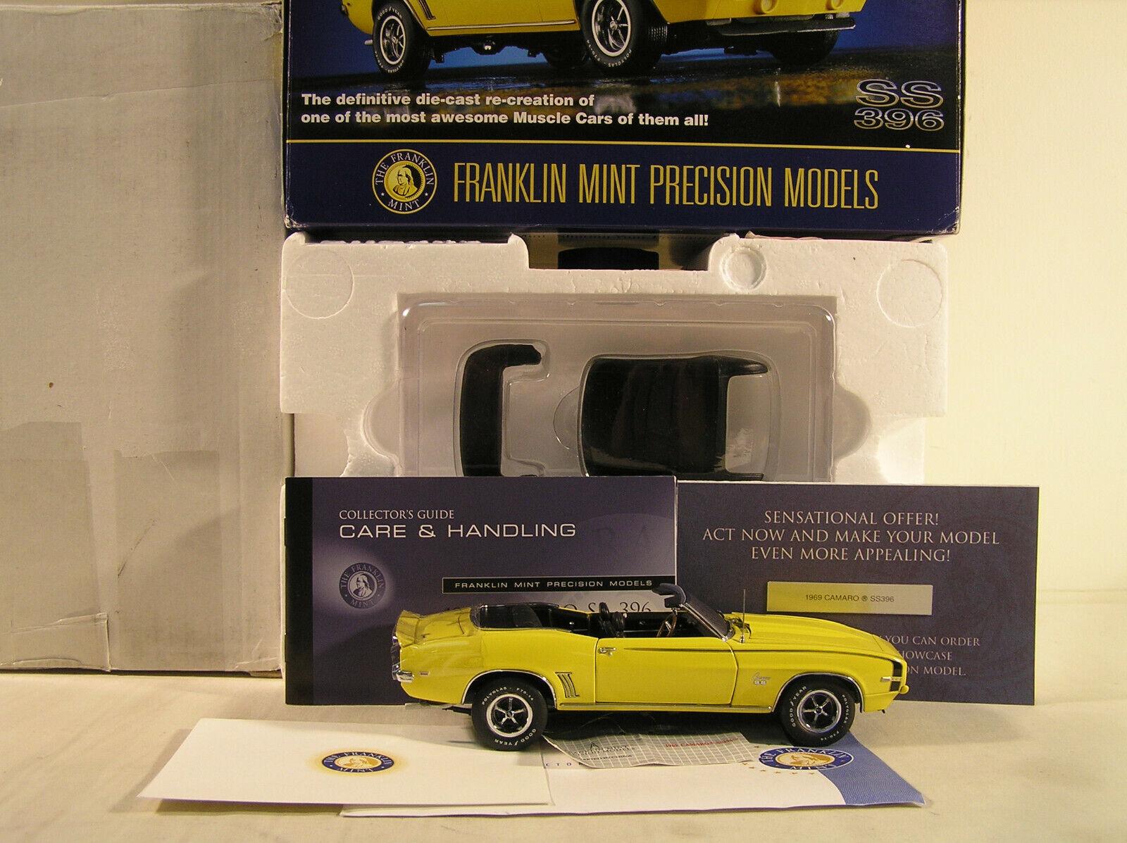 1969 Camaro Ss 396 por Franklin Mint, B11ZJ40