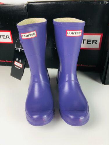 Hunter Court Bottes en caoutchouc bottes taille 42 short Iris-Violet hofstiefel femme NOUVEAU