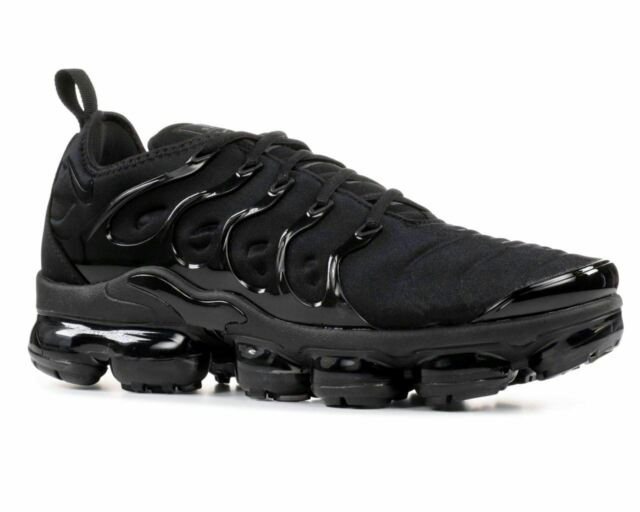 a86bb2830cf 2018 Nike Air Vapormax Plus Triple Black Dark Grey 924453-004 Mens ...