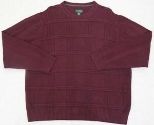 David-Taylor-Burgundy-Red-Sweater-XL-Cotton-Crewneck-Mens-Mans-Solid-Extra-Large