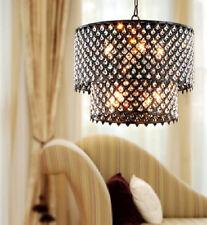 Item 2 Round Crystal Chandelier Antique Bronze 8 Light Double Tier Hanging Fixture New
