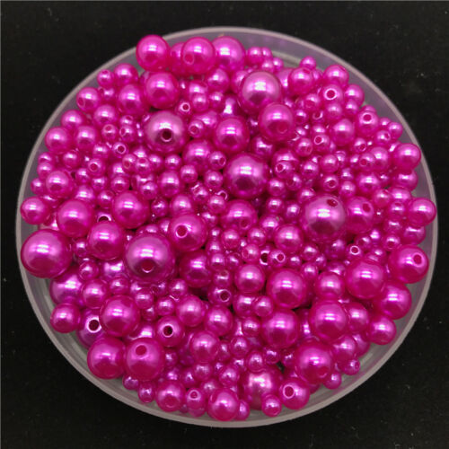 4mm-10mm Mix 30g Imitation Pearls Round Pearl Spacer Loose Bead Jewelry Making