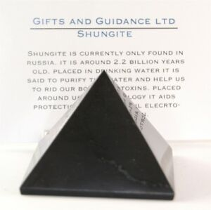 Details about Shungite Shungit Pyramid 50mm Electromagnetic Protection