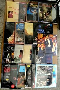 Lot-Of-20-Vintage-Classic-Laser-Disc-pavarotti-brand-new