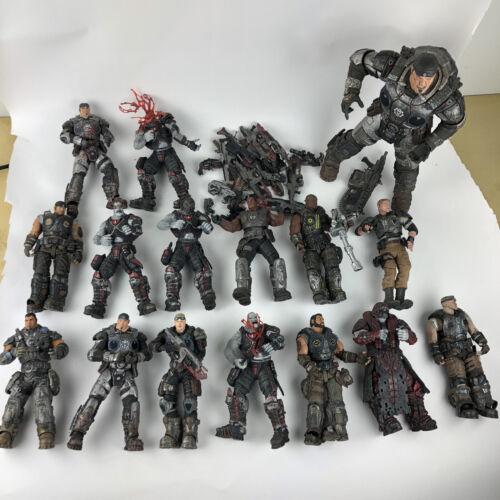X-BOX RARE 16 GEARS OF WAR figures Lot-Années 2000-avec accessoires!!