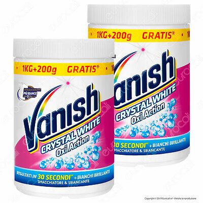 2x Vanish Crystal White Smacchiatore Multiuso in Polvere 1200 gr
