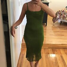 JOHN GALLIANO GREEN DRESS, SIZE M, NEW WITHOUT TAG ($2495)