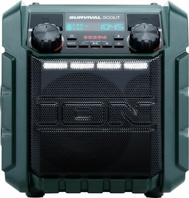 ION Audio - Survival Scout Portable Bluetooth Speaker - GREEN