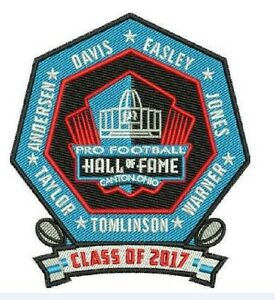 PRO FOOTBALL HALL OF FAME PATCH NFL HOF CLASS OF 2017 CANTON OHIO SUPER BOWL