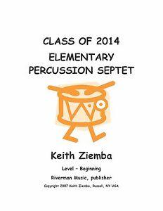 100% De Qualité Elementary Percussion Ensemble Septet Original,fun, Educational New