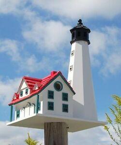 Home Bazaar Portland Head Lighthouse Stylish Outdoor Decor For Songbird Lovers Ebay