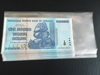 2008 Zimbabwe 100 Trillion Dollars X 40 pieces, 2008 UNC Prefix AA