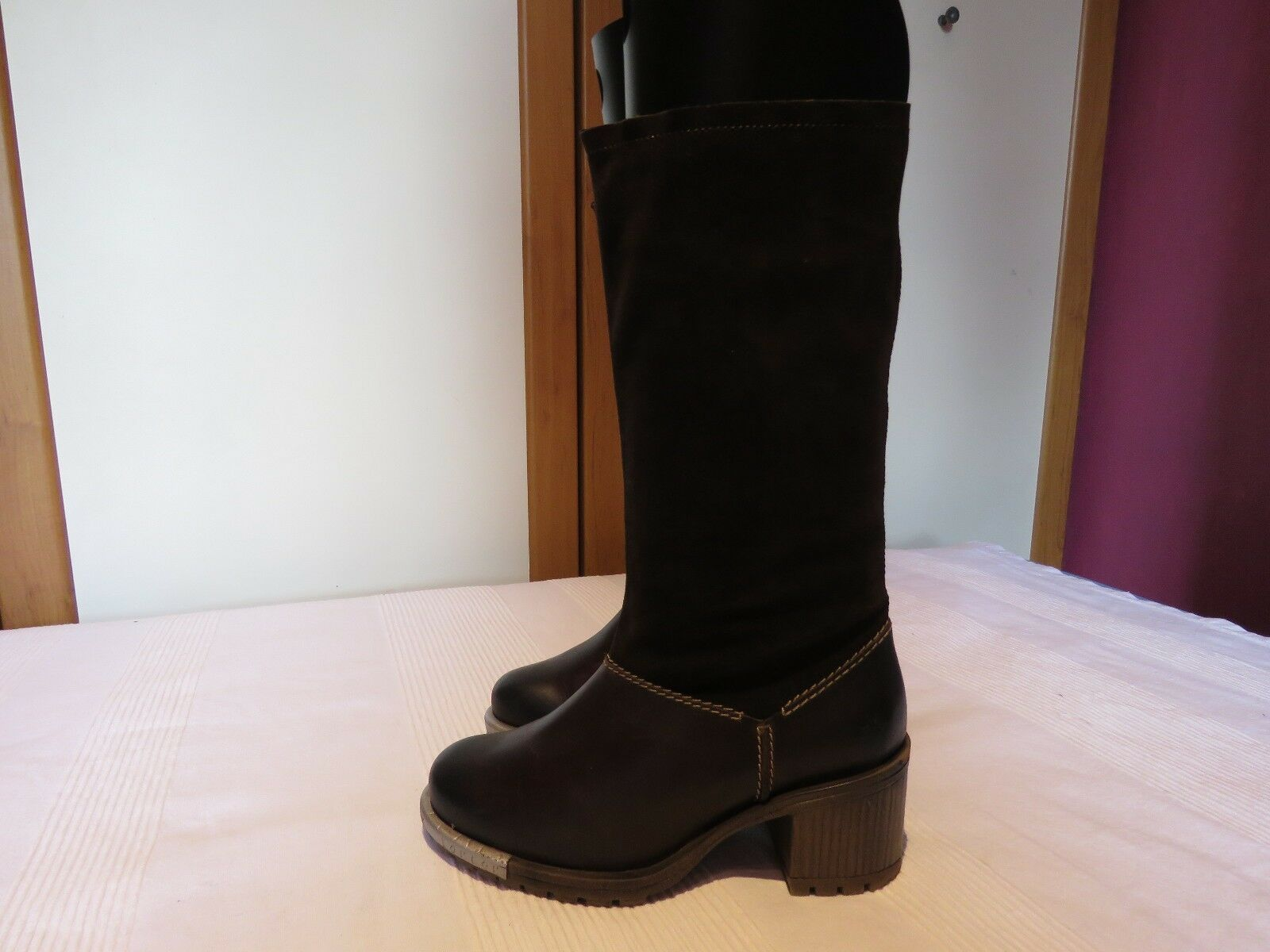 FLY LONDON LARY690FLY ESPRESSO BROWN MID CALF HEELED 37 Stiefel UK 4 EUR 37 HEELED 40df80