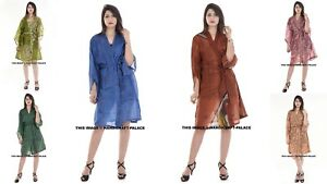 Assorted-5-PC-LOT-Vintage-Old-Silk-Women-Robe-Bride-Robes-Bridesmaid-Kimono-Robe
