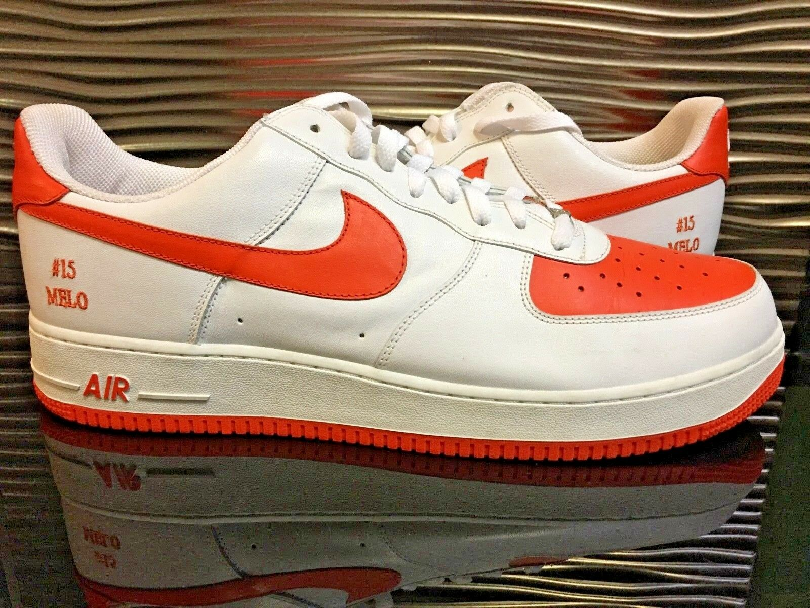 Nike Air Force 1 Low Sample Melo PE Sample Low DS Hommes Taille 15 blanc /Orange Holy Grail 7e23ef