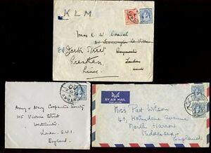 JORDAN 1934-53...3 COVERS + AIRMAIL