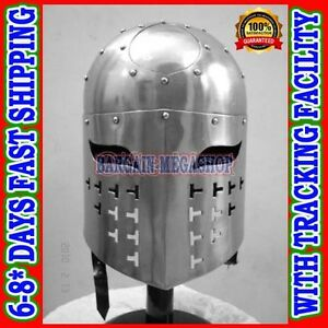 Medieval-Spangen-Helmet-Liner-Chin-Straps-Re-enactment-Role-play-fancy-dress