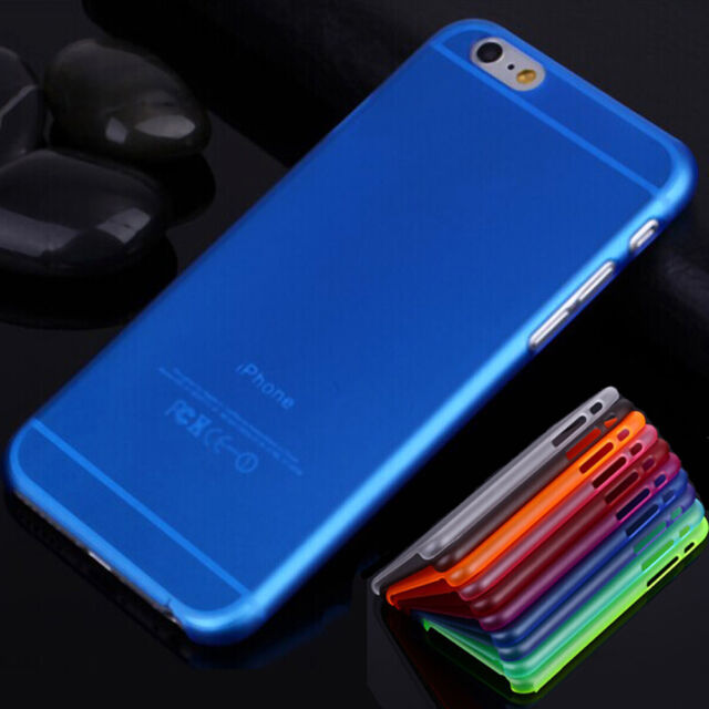 """0.3mm Ultra Thin Matte Back Plastic Case Cover Skin For iPhone 6 4.7""""/6 Plus 5.5"""