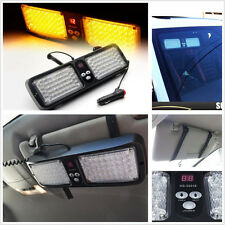 86 LED Light Bar Lamp Emergency Warning Strobe Flashing Car Sun Visor SunShield