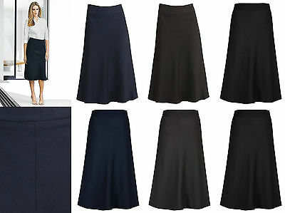 Biz Corporate Ladies 3/4 Length FLuted Lined Skirt 20113 | Womens, Office, Work