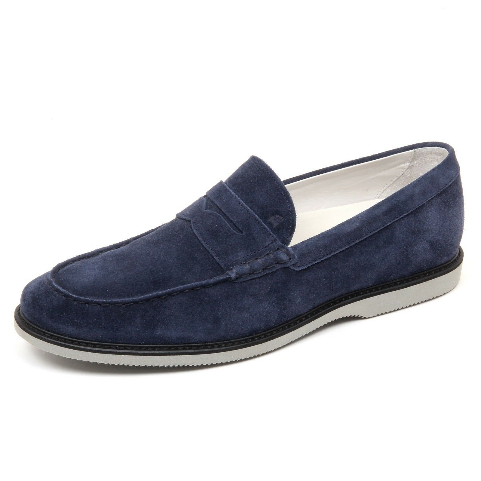D2456 mocassino uomo HOGAN CLUB GUARDALO L blu loafer shoe man