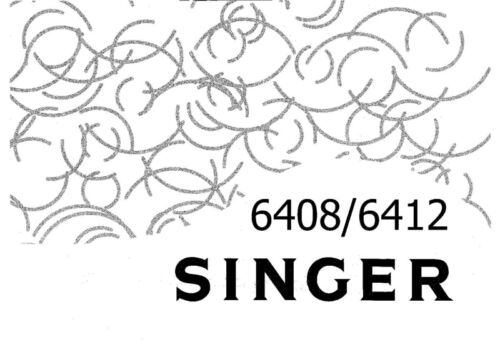 Singer 64086412 Sewing MachineEmbroiderySerger Owners Manual