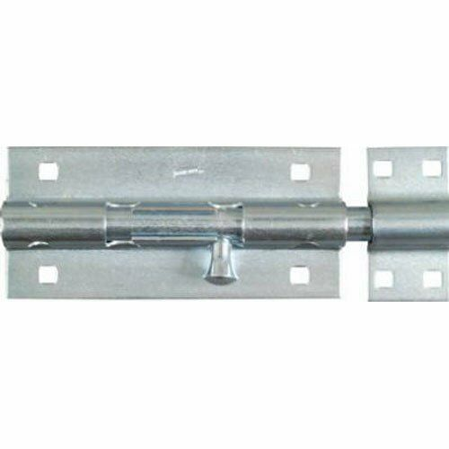 "National Hardware V832 8/"" Zinc Plated Extra Heavy Barrel Bolt"
