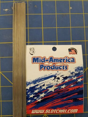 Mid America Products Stainless steel tubing .072    10 Pieces 1//24 Drag Slot Car