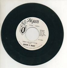 ROSIE J HART 45 RPM Promo Record DON'T BE NICE TO ME / I CAN LOVE YOU Trojan EX-