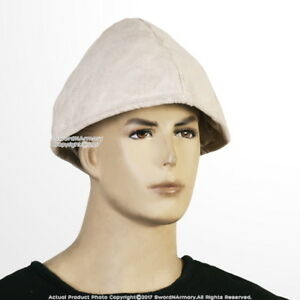 bb05ae4b8b25e Medieval Cotton Padded Arming Cap for Helmet Coif LARP Renaissance ...