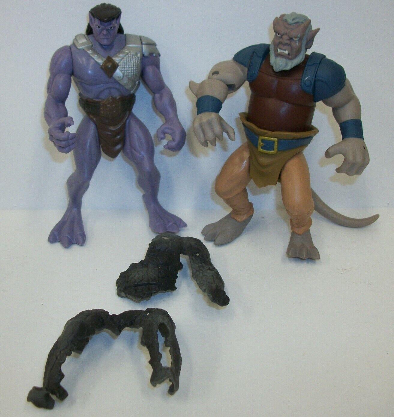 1995 BVTV Kenner Gargoyles Action Figures Toys Goliath Hudson & Armor
