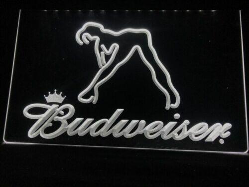 Budweiser Beer Bud Led Neon Light Up Sign Bar Pub Man Cave Sport Gift Advertise
