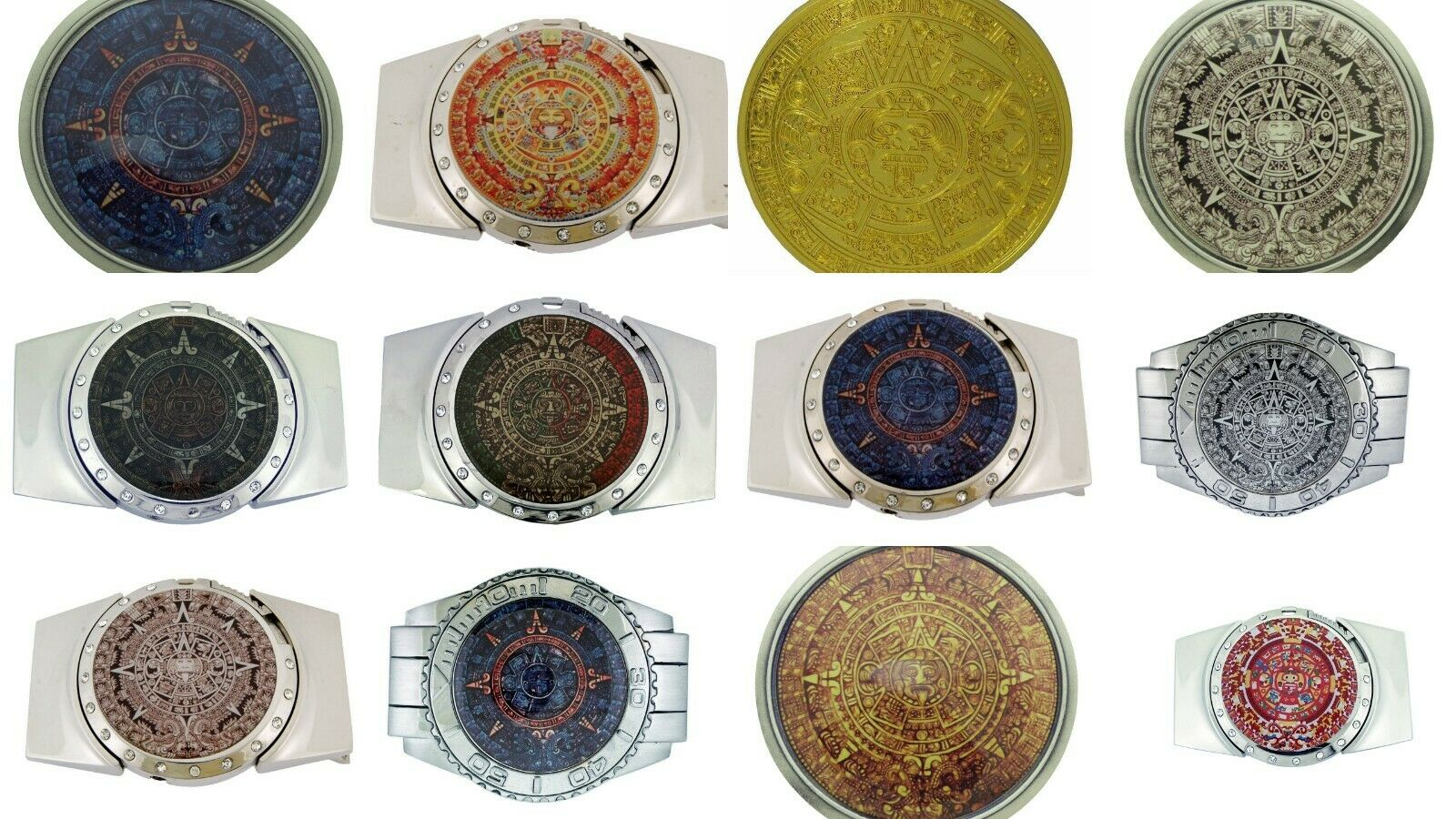 Azteken Kalender Gürtelschnalle Maya Indian Calendario Azteca Neu Del Sol's B