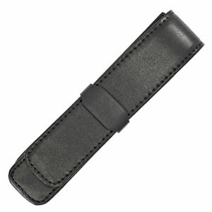 Parker-Black-Leather-Single-Pen-Pouch-Case-Holds-1-Fountain-Rollerball-Ballpoint