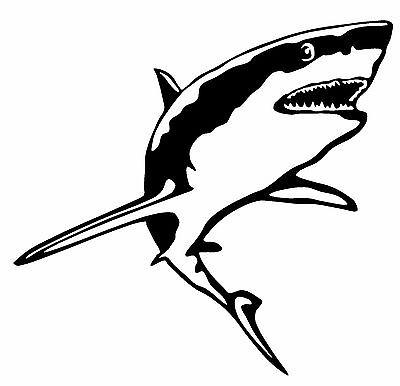 GREAT WHITE SHARK Vinyl Decal Sticker Car Window Wall Bumper Jaws Fish Animal