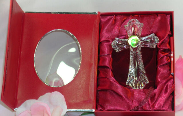 New Waterford Lead Crystal 2013 Annual Cross Christmas Ornament Easter Communion