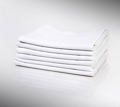 150 NEW WHITE RESORTS HOTEL PILLOW CASES COVERS T-180 STANDARD SIZE GOLD LABEL