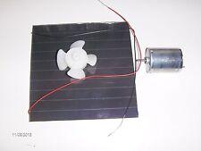 Solar power fan kit  6vdc 100ma   panel-wires-fan motor-blade educational tool