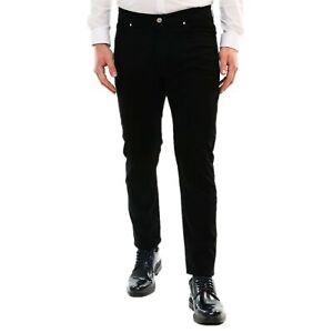 Pantalone-Uomo-Cotone-Estivo-Nero-Chino-Slim-Casual-Elegante-Cargo-5-Tasche