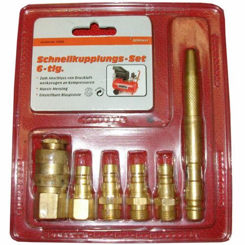 Kupplung Set Spritzpistole Autolack Druckluftwerkzeug  /&Versand