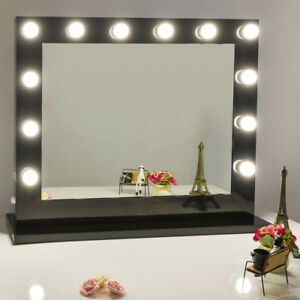 Chende Large Vanity Mirror With Light Hollywood Style