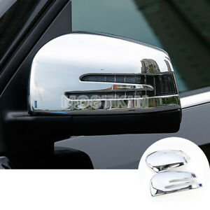Details About Abs Side Rearview Mirror Frame Trim Cover For Benz Ml W166 12 15 Gl X166 13