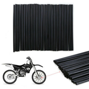 72Pcs-Black-Spoke-Skins-Covers-Wraps-Wheel-Pipe-Guard-Dirt-bike-Dual-Sport-bike