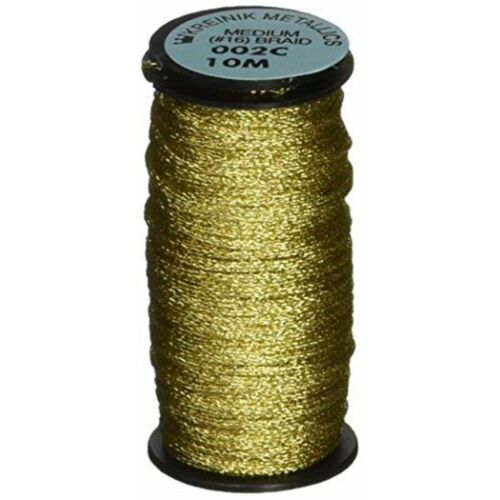 Kreinik Medium Metallic Corded Braid #16 11yd-gold