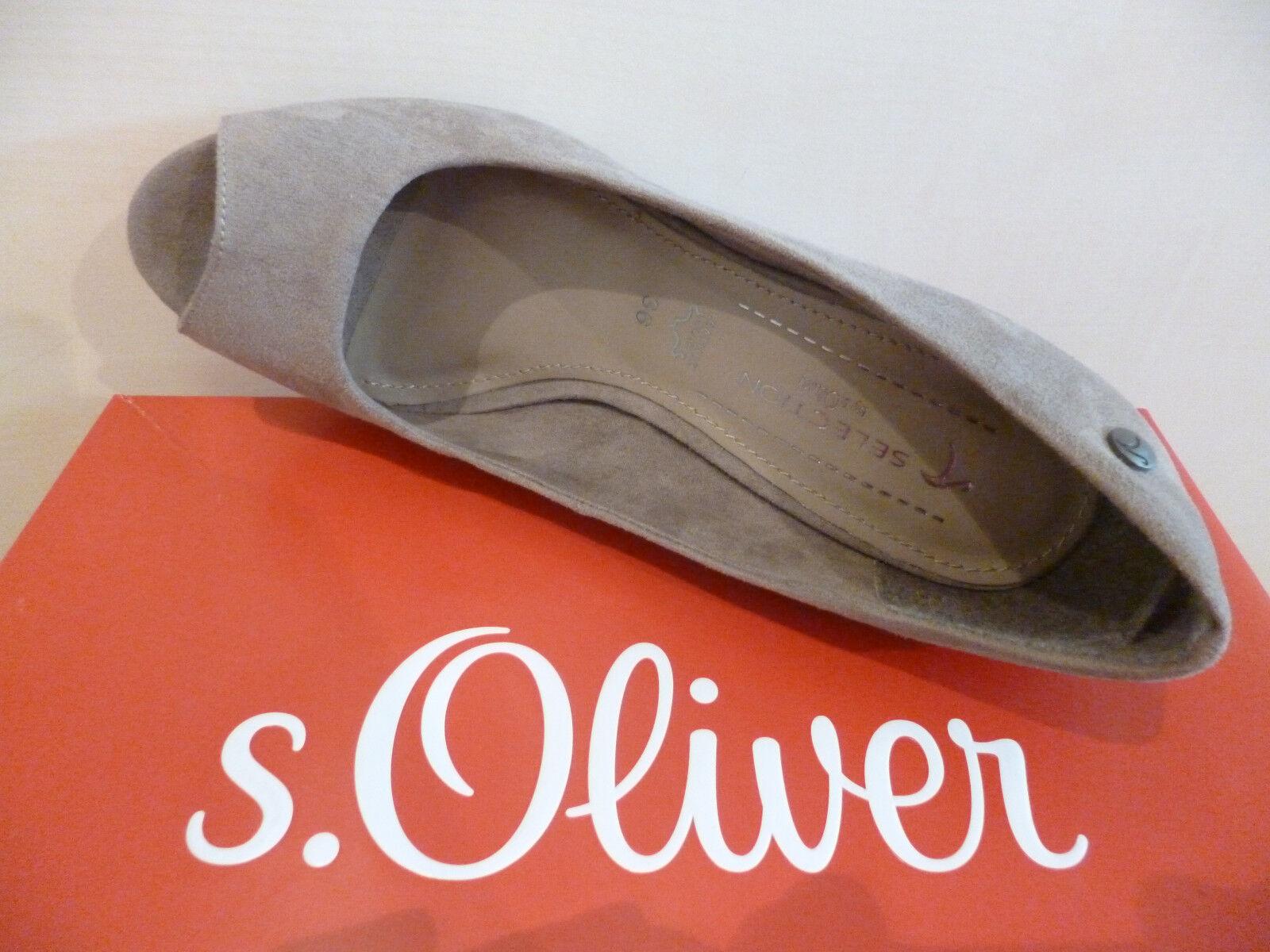s.Oliver ESCARPINS FEMMES MOCASSINS BOUT BOUT BOUT OUVERT POIVRE 29330 NEUF | Vente En Ligne  | Boutique En Ligne  bb21e0