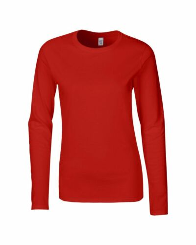 LADIES T-SHIRT 8 Colours Softstyle Womens TEE Gildan Long Sleeve Tee