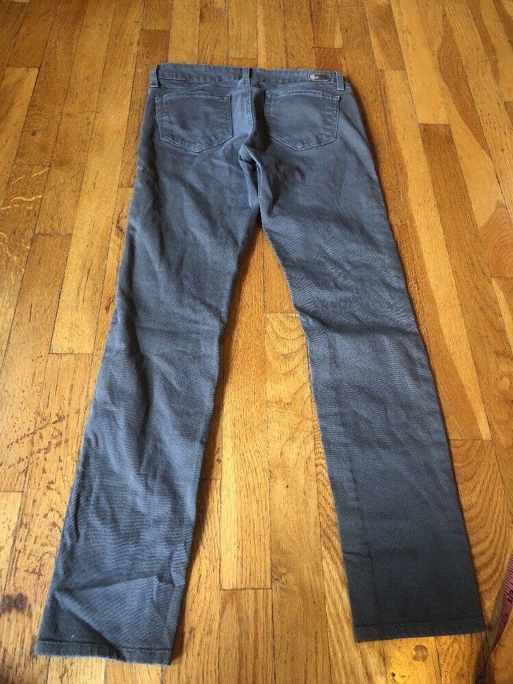 Paige Peg Skinny Jeans Made In USA Sz28 Stretch Grey
