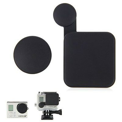 Protective Camera Lens Cap Cover + Housing Case Cover For GoPro HD Hero 3+ 4