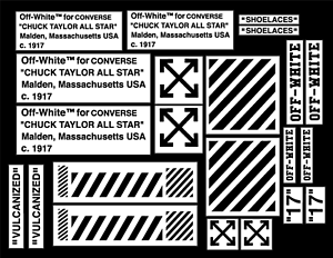 AIR FORCE 1 OFF WHITE DECAL VINYL PAINTING STENCIL PACK