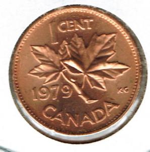 1979 Canadian Uncirculated One Cent Elizabeth Ii Coin Ebay